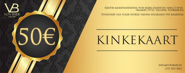 Von Baeri Kinkekaart