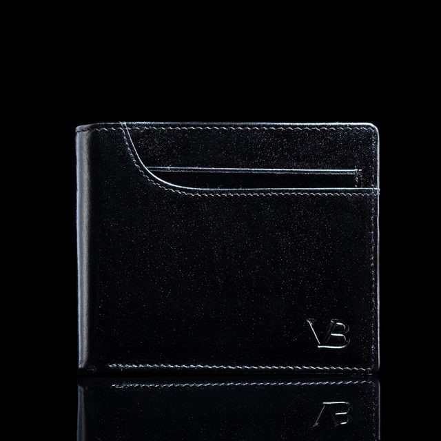 Franklin nahast rahakott - must eestvaade