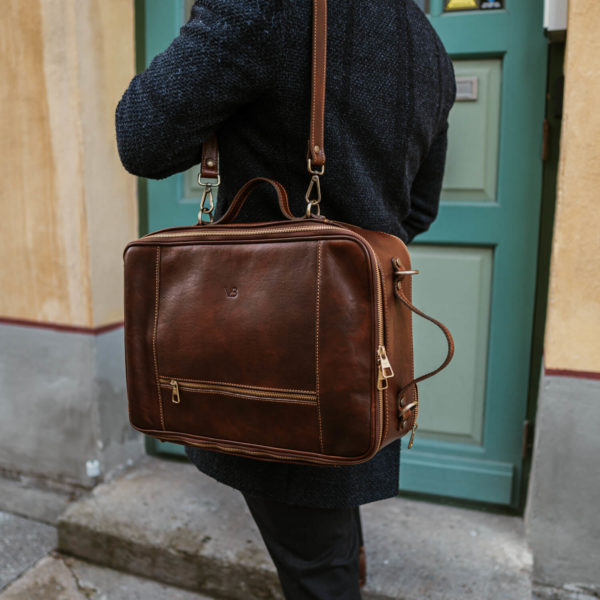 10x nahast seljakott kaamerakott reisikott pruun õlal