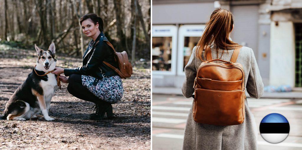 emadepäeva kink - nahast seljakott
