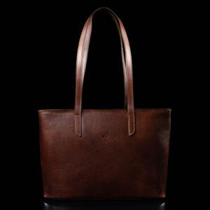 Nahast Tote Bag nahast naiste käekott pruun
